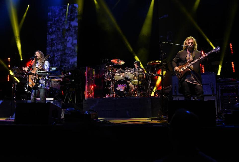 Singer Jon Davison, drummer Jay Schellen, and bassist Billy Sherwood were among the newer faces when Yes played at Lynn Auditorium Thursday.