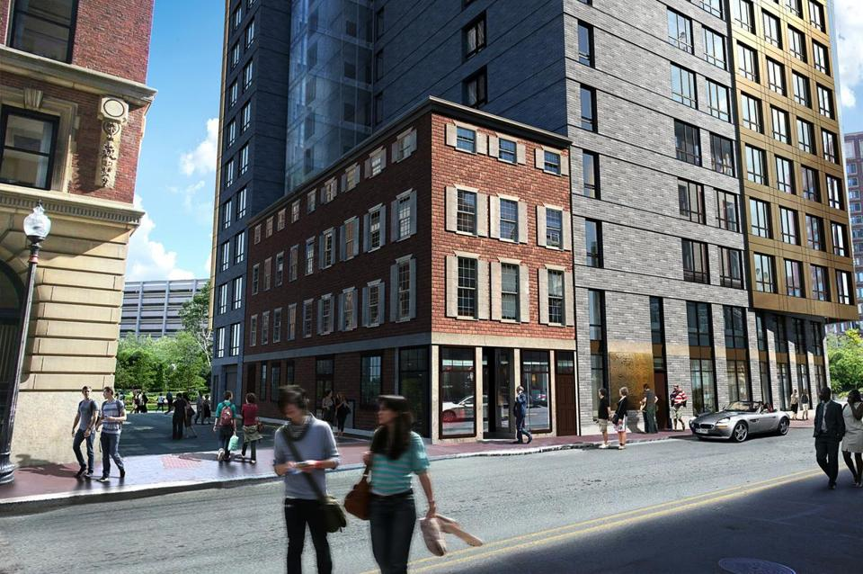 Boulevard on the Greenway will incorporate the Bulfinch building (left) into its design.