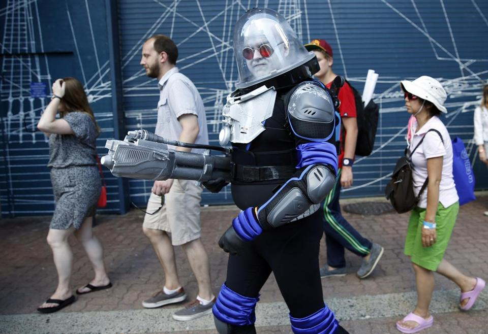 One cosplayer dressed as Mr. Freeze, a Batman villain, for last year's Boston Comic Con. The annual three-day convention kicks off Friday.