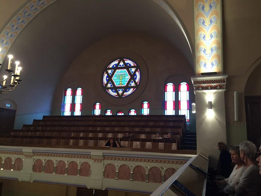 25Germany - The Pestalozzistrasse Synagogue in Berlin, completed in 1912, was damaged in a 1938 pogrom but survived World War II. It is a liberal synagogue, but men and women sit separately. (Braham David)