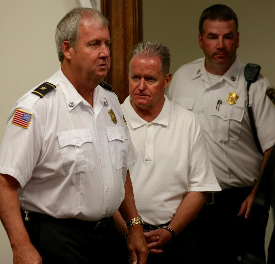 Frederick Weichel was led into court Monday.