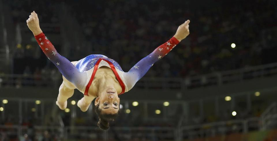 2016 Rio Olympics - Artistic Gymnastics - Final - Women's Floor Final - Rio Olympic Arena - Rio de Janeiro, Brazil - 16/08/2016. Alexandra Raisman (USA) of USA (Aly Raisman) competes. REUTERS/Mike Blake TPX IMAGES OF THE DAY. FOR EDITORIAL USE ONLY. NOT FOR SALE FOR MARKETING OR ADVERTISING CAMPAIGNS.