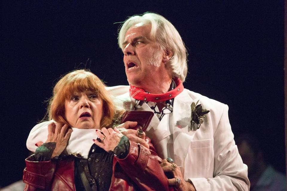 "Annie Golden and Jeff McCarthy in Barrington Stage Company's ""Broadway Bounty Hunter."""
