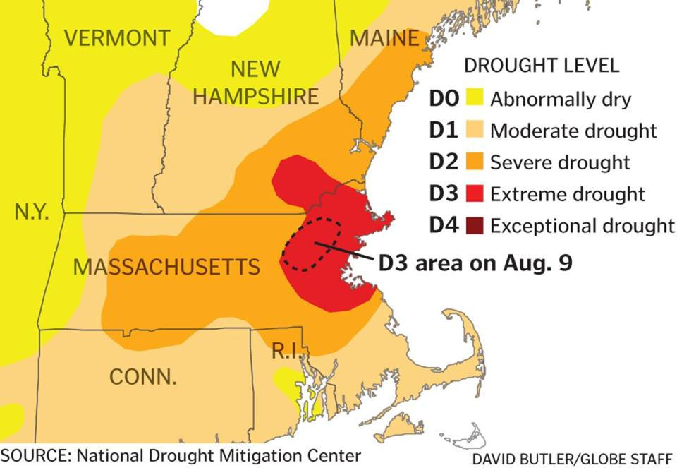Extreme Drought Expands Through Northeastern Massachusetts The Boston Globe