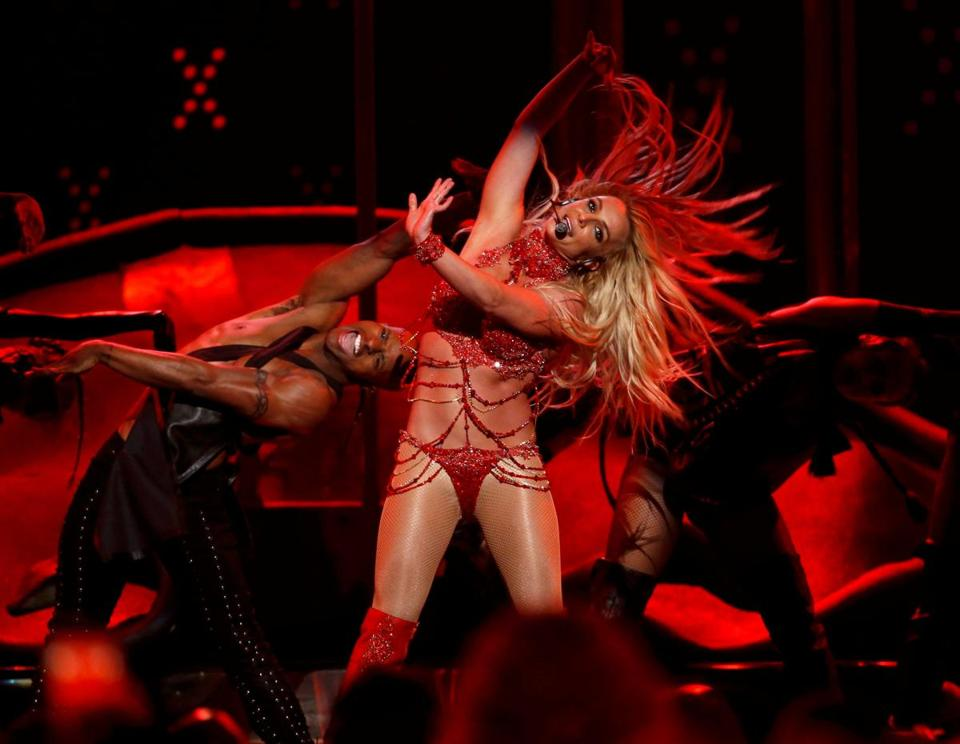 Britney Spears performing in Las Vegas in May.