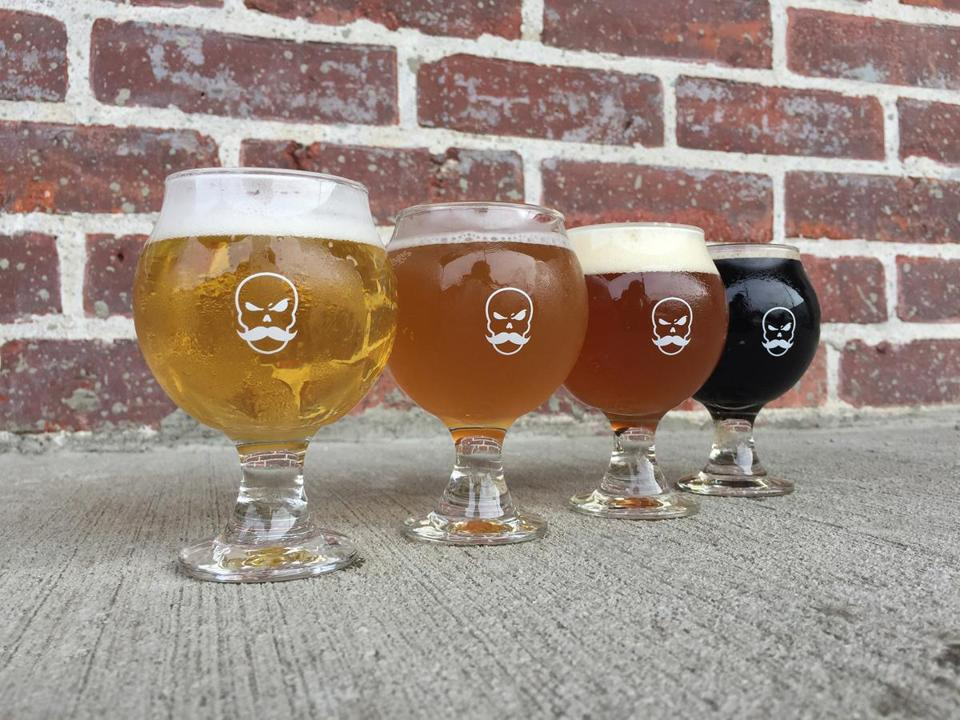 Bone Up Brewing Company's year-round lineup.