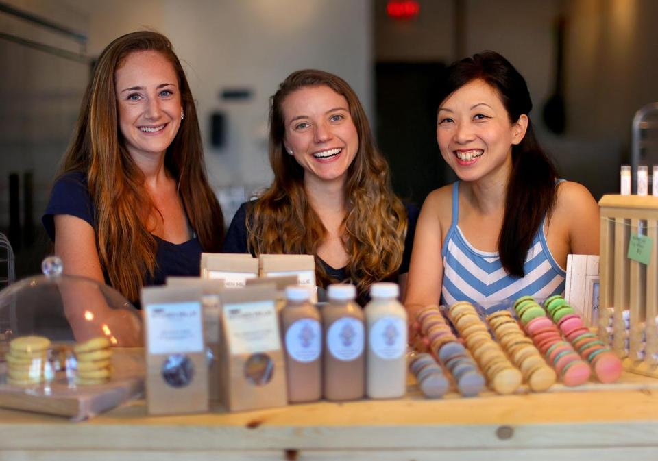 The Local Fare owners (from left) Michelle Wax of Kitchen Millie, Caroline Huffstetler of Nutty Life, and Rita Ng of Boston Bonbon.