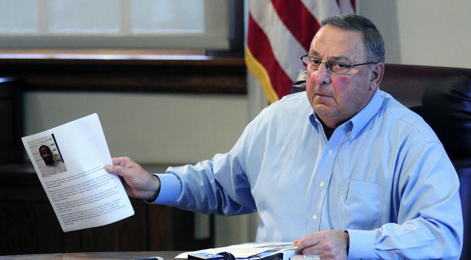 Maine Governor Paul LePage in late August, about a month before his surgery.