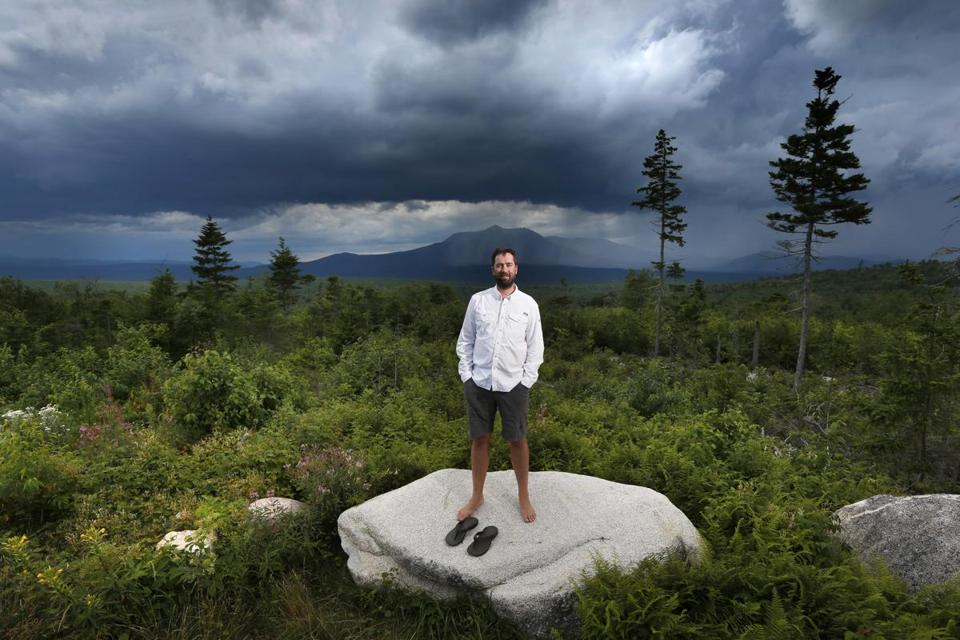Lucas St. Clair, the son of Burt's Bees founder Roxanne Quimby, stood last year on land the Quimby family donated to establish the 87,500-acre monument.