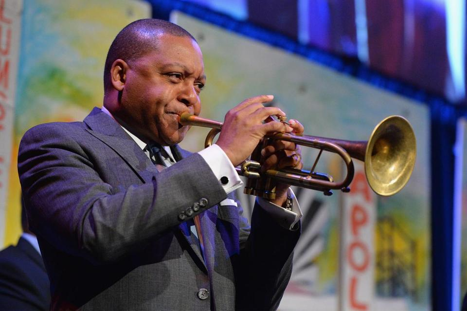 NEW YORK, NY - APRIL 27: Musician Wynton Marsalis performs onstage during the Northside Center for Child Development 70th Anniversary Spring Gala at Cipriani 42nd Street on April 27, 2016 in New York City. (Photo by Andrew Toth/Getty Images) -- 08PULITZER