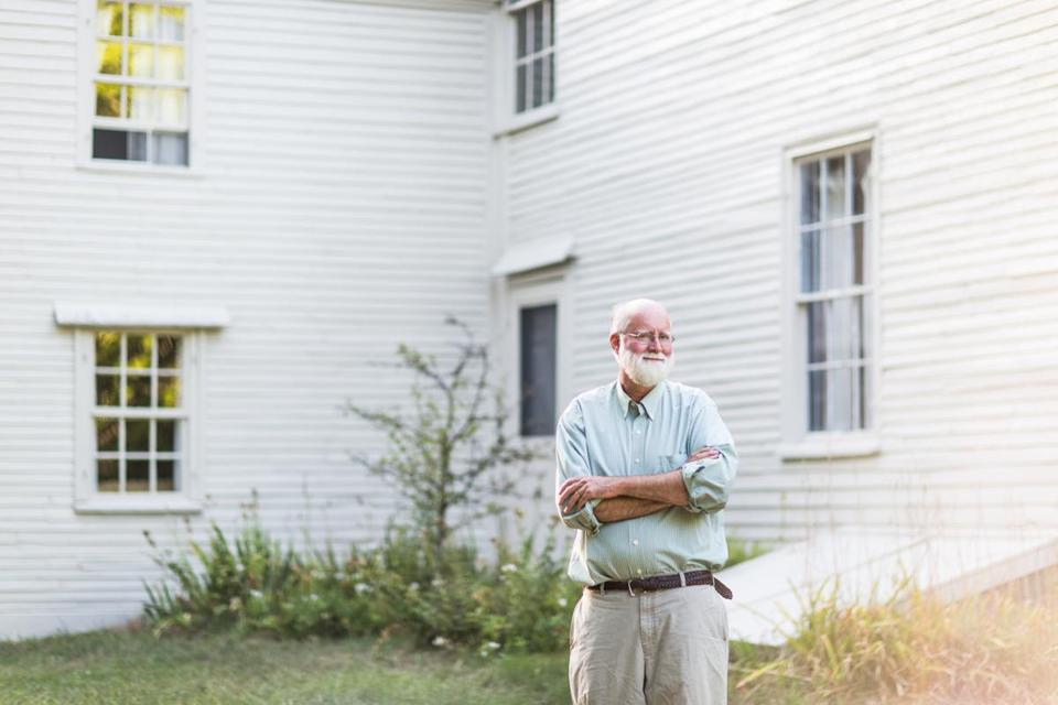 Nicholson Baker (pictured at his farmhouse in South Berwick, Maine) has made his first foray into first-person, participatory journalism after writing 15 works of fiction and nonfiction.