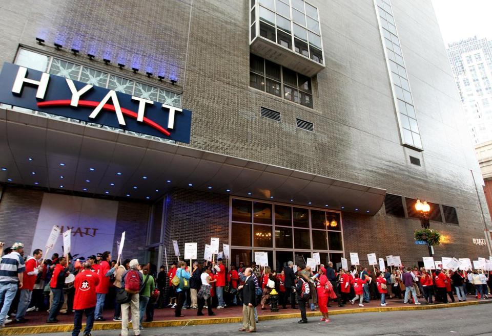 Hyatt job protest