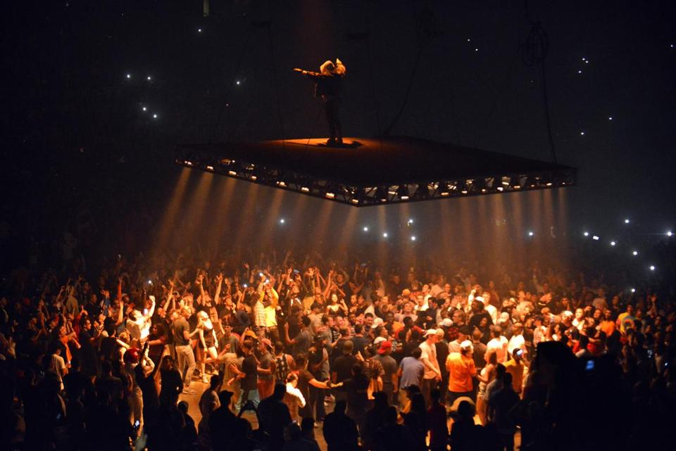 Great Kanye West Performed On A Platform Suspended Over The TD Garden Audience  Saturday Night. Design Inspirations