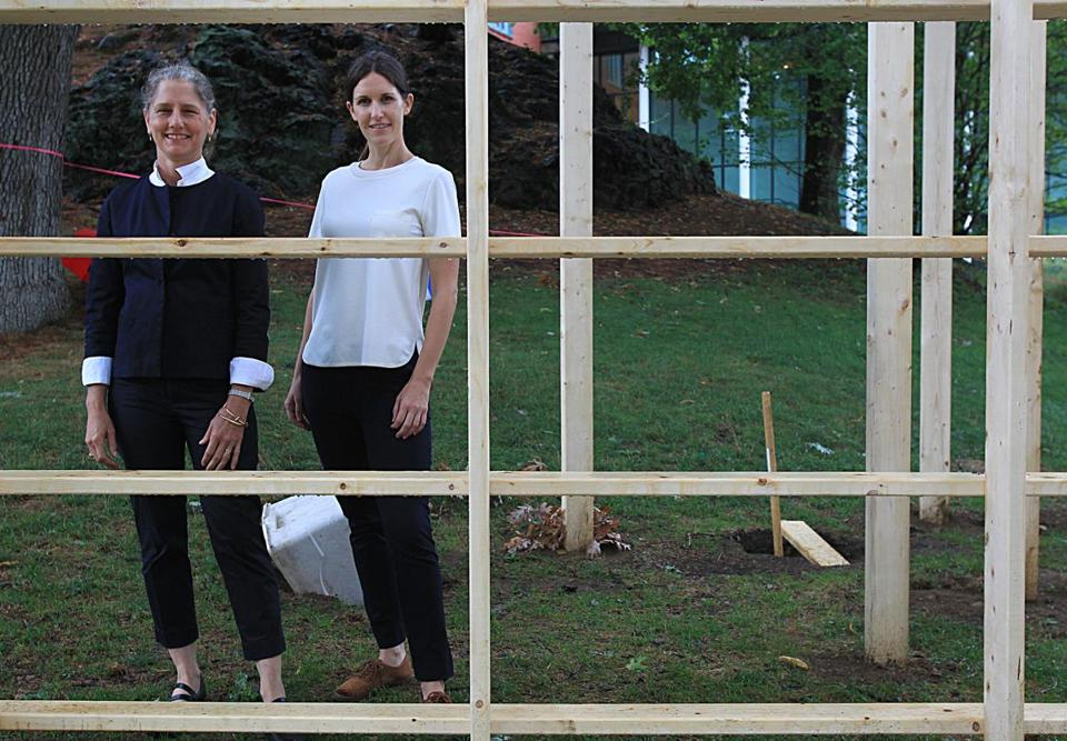 The upcoming bienniale at the DeCordova is organized by curators Jennifer Gross, left, and Sarah Montross, right.
