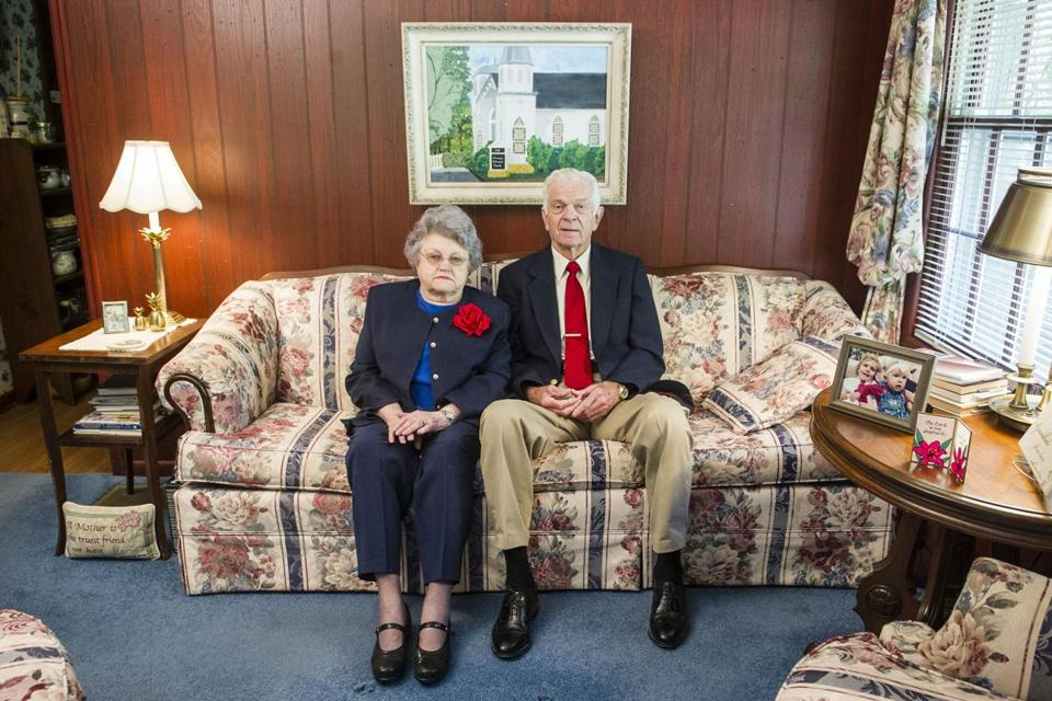 Grady (Billy) Weathers and wife Joann are pictured in their Norcross home which they built and have lived in for over 45 years.