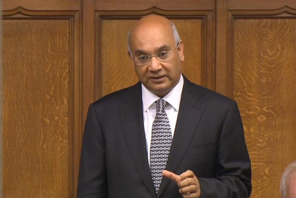 British MP Keith Vaz spoke Monday in the House of Commons. Vaz quit a senior post in the Labour Party amid a newspaper-fueled scandal.