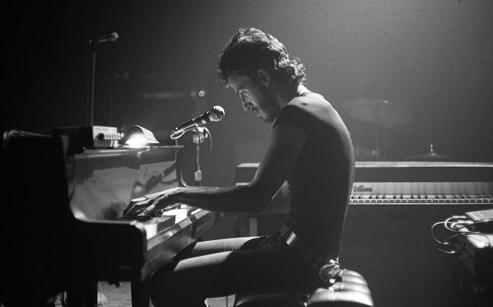 "Bruce Springsteen playing ""For You"" at Harvard Square Theatre in 1974."