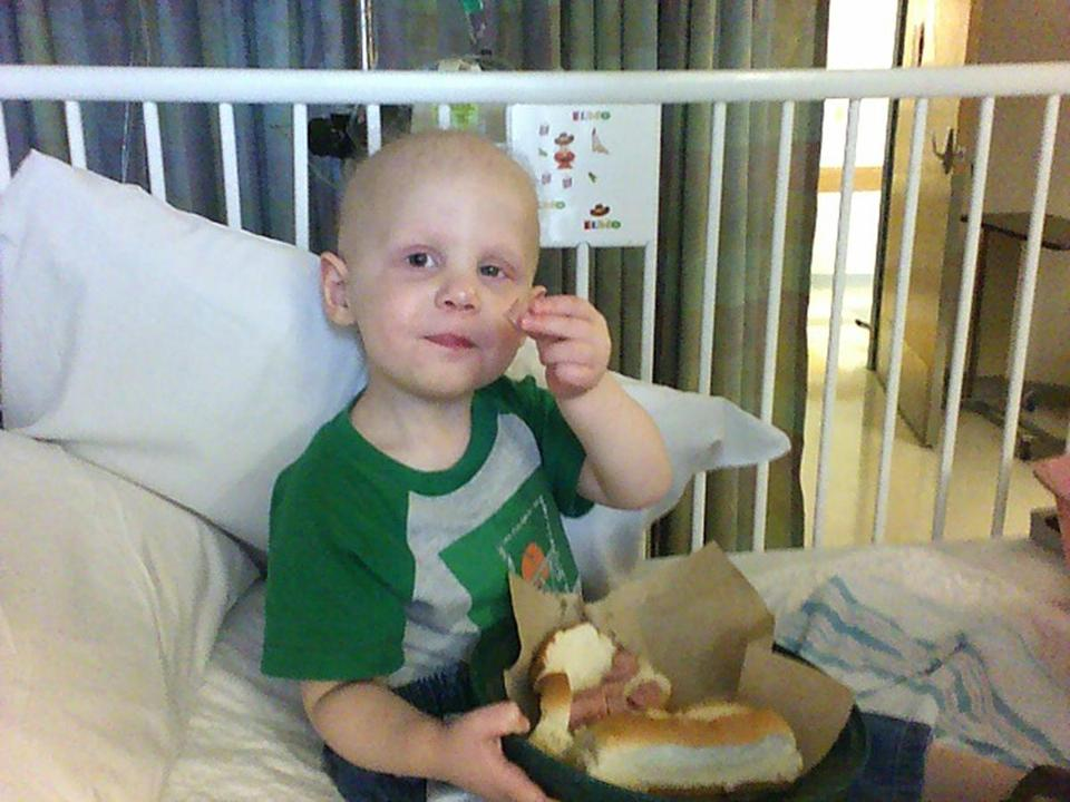 FOR LACEY PROJECT ONLY. Lacey_online_Photo - Info from source: Will Lacey eating hot dogs at the hospital. Taken July 11, 2006. (Lacey family)
