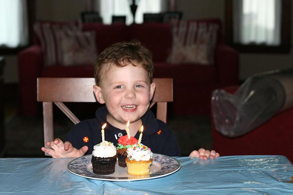 FOR LACEY PROJECT ONLY. Lacey_online_Photo Info from source: Will Lacey during his third birthday. Taken August 24, 2007. (Lacey family)