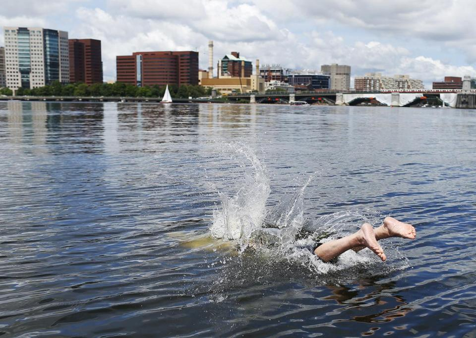 Former Globe staffer David Filipov jumped into the Charles River earlier this summer.