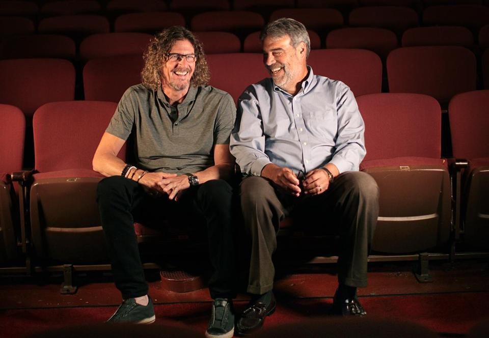 (EMBARGOED UNTIL SEPT 15, 2016) DO NOT PUBLLISH UNTIL AFTER EMBARGO! Boston, MA., 09/09/16, The new sponsor of the Citi Performing Arts Center is Ernie Boch Jr., left. Photographed in the theater with Josiah Spaulding, Jr. , president and chief operating officer at Citi Performing Arts Center in Boston. CitiGroup is ending its decade-long sponsorship of the Wang and Shubert Theatres on Oct. 31. Suzanne Kreiter\Globe staff