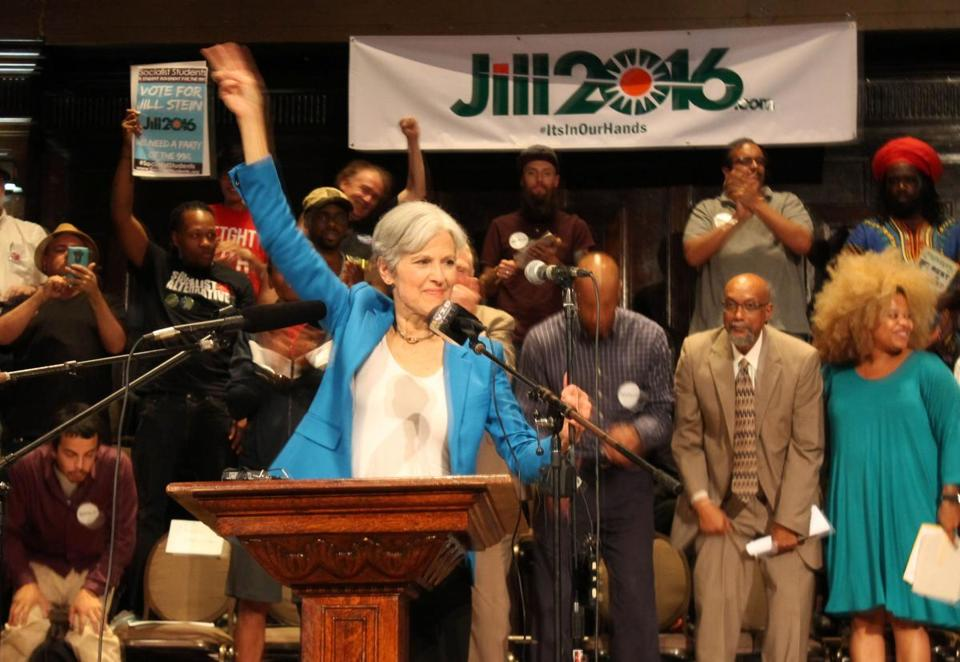 Green Party candidate Jill Stein at a rally in Chicago earlier this month.