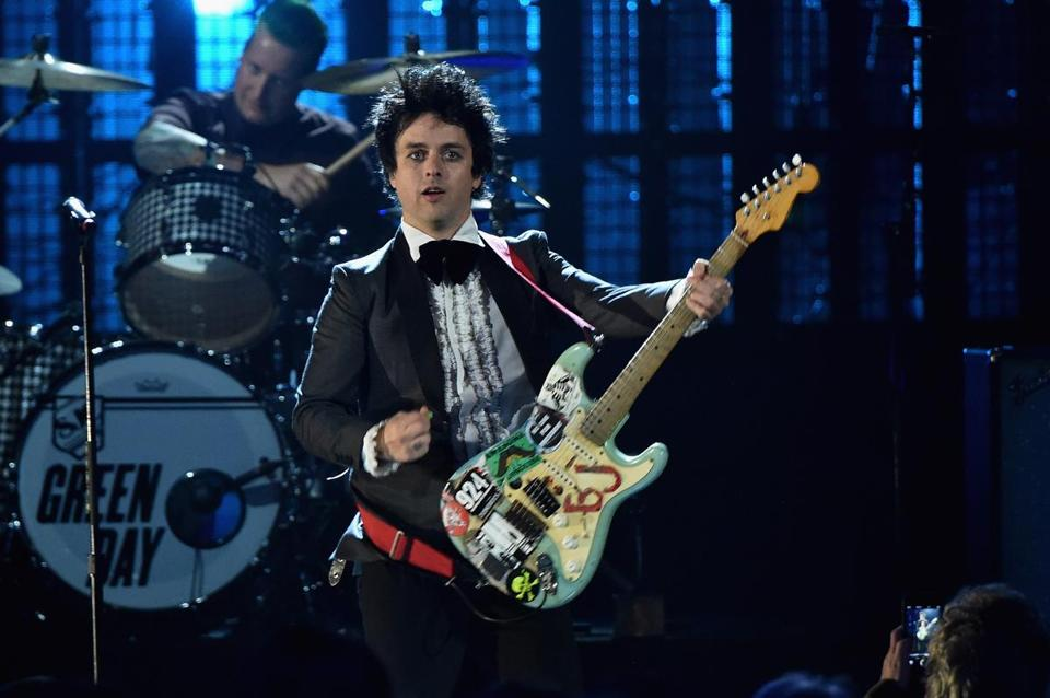 Green Day frontman Billie Joe Armstrong (pictured last year in Cleveland).