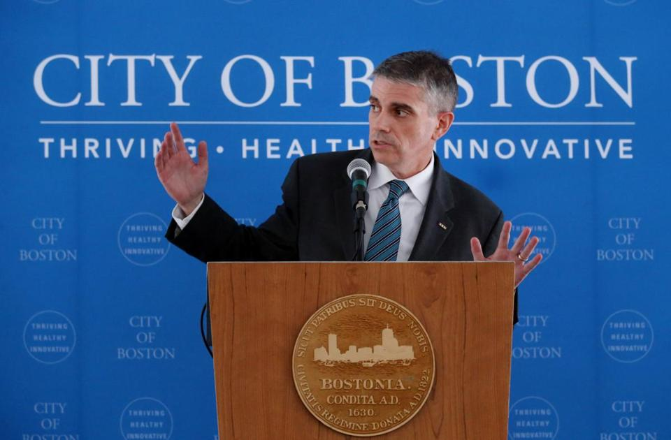 Brian Golden, director of the Boston Redevelopment Authority, will keep his post in the rechristened Boston Planning & Development Agency. Above: Golden spoke at Tuesday's event unveiling the new agency name.