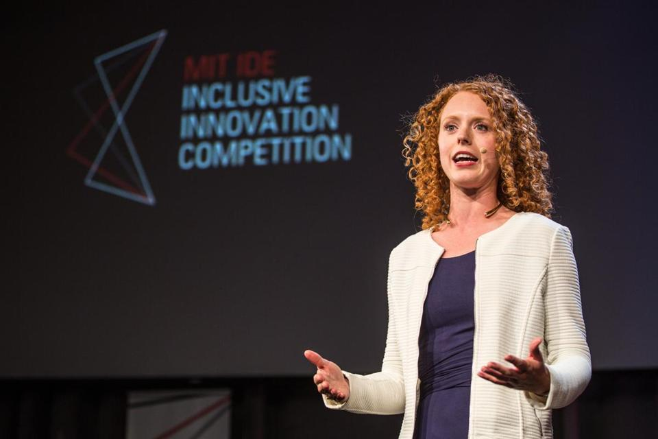 Devin Cook, executive producer of the Inclusive Innovation Competition, gave an introduction at the event.