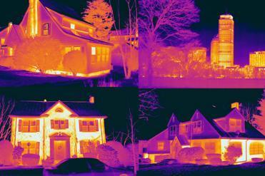 Essess thermal images of homes and buildings