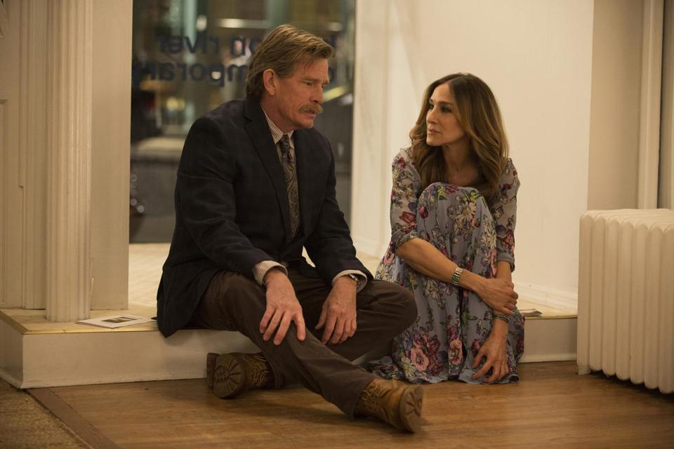 "Thomas Haden Church and Sarah Jessica Parker star in the HBO series ""Divorce."""