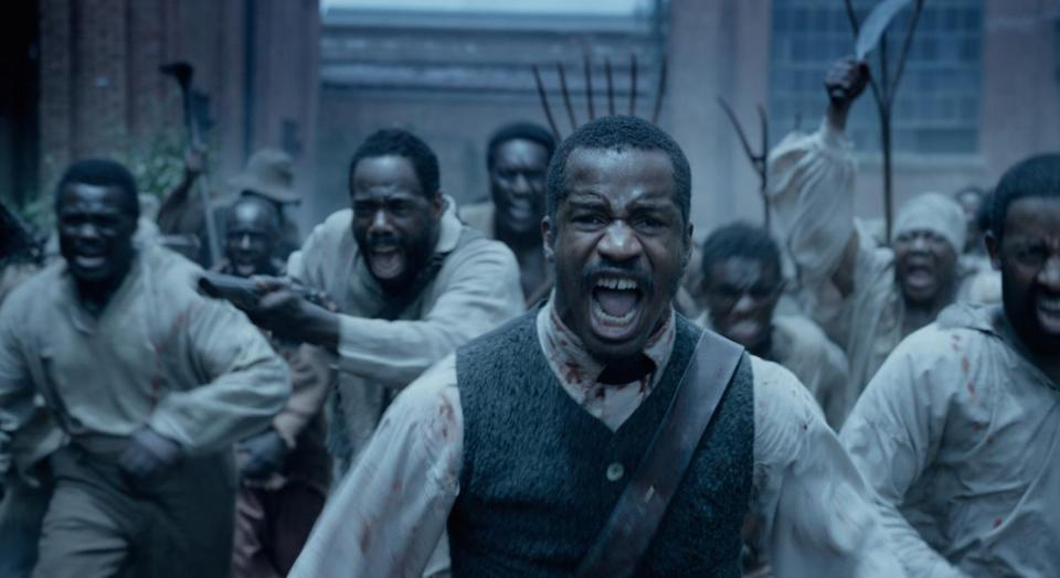 "Nate Parker as ""Nat Turner"" in the 2016 film ""The Birth of a Nation,"" directed by Nate Parker."