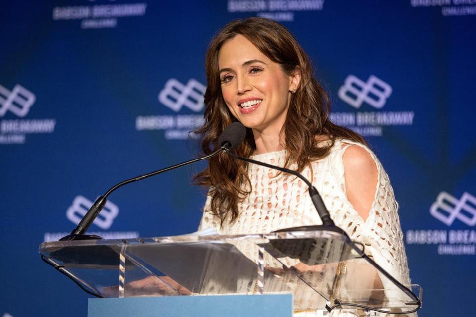 Eliza Dushku spoke in Boston in September 2016.