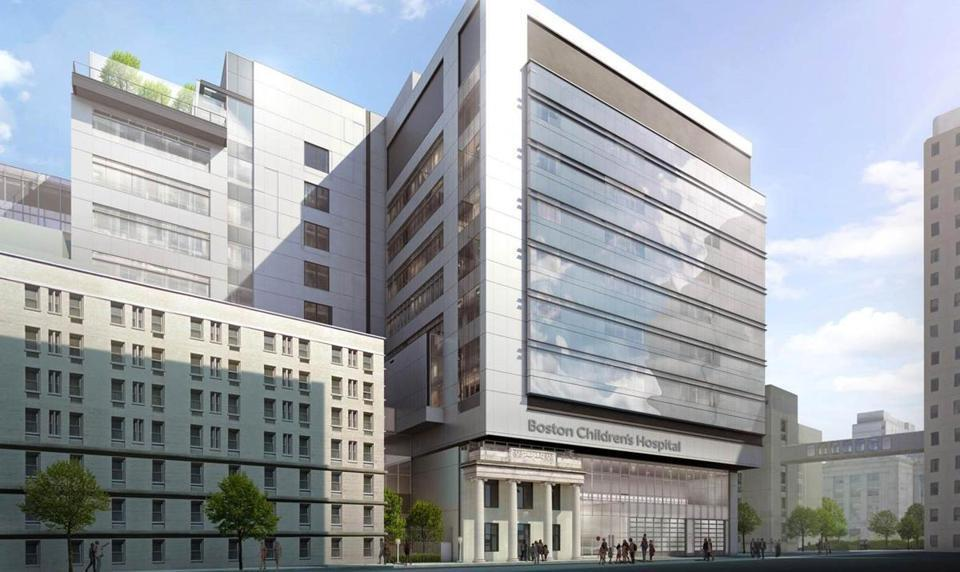 A rendering of Boston Children's Hospital's proposed new building.