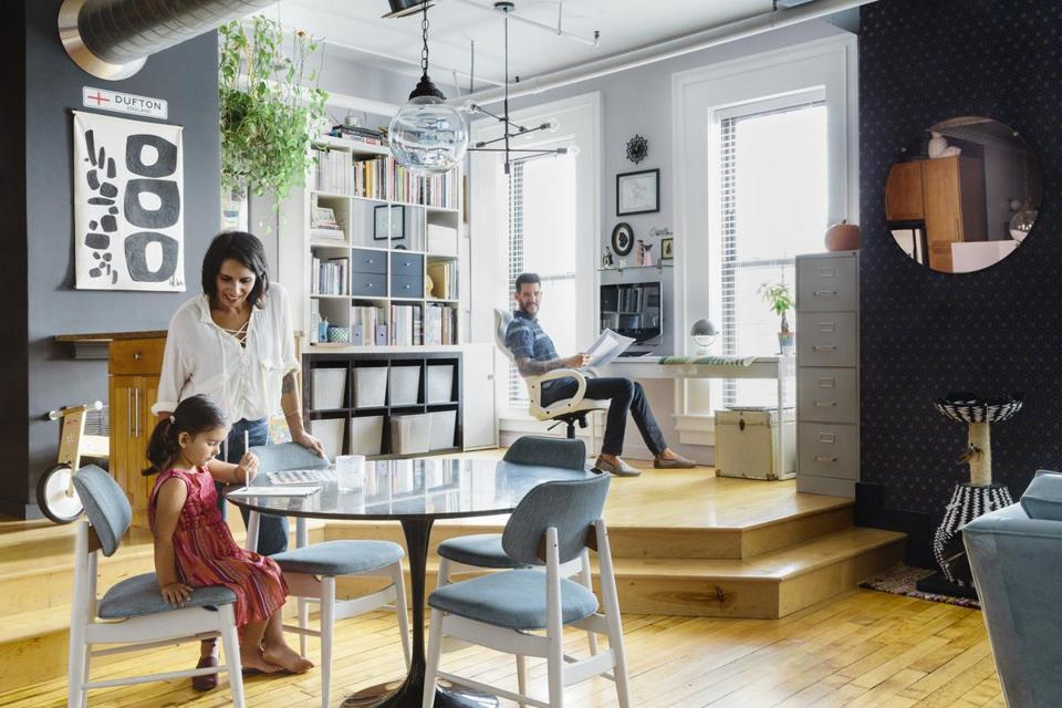 Living And Working Stylishly In A 1350 Square Foot Roxbury Loft