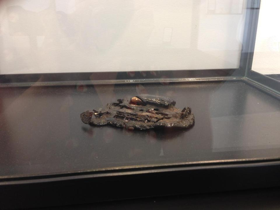 A melted cellphone found in Lexington.