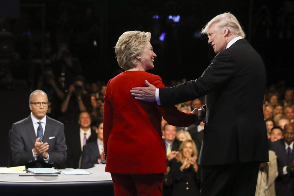 Hillary Clinton and Donald Trump during the first presidential debate last month.