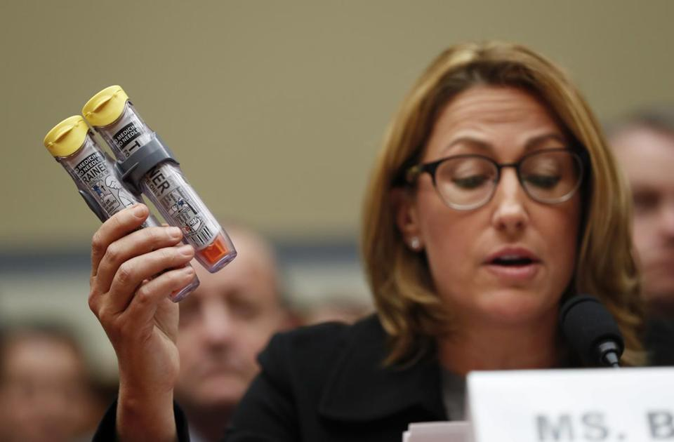 In 2016, Mylan CEO Heather Bresch testified before Congress about EpiPen price increases.