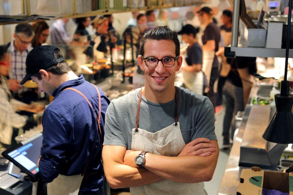 Adam Eskin, founder and CEO of Dig Inn. The first Boston location of the fast-casual restaurant opened this summer.