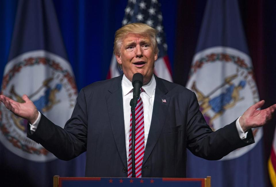 epa05576306 (FILE) A file picture dated 02 August 2016 shows US Republican presidential nominee Donald Trump speaks at a rally at Briar Woods High School in Ashburn, Virginia, USA. Republican presidential nominee Donald Trump on 08 October 2016 apologized for off-camera remarks he made in a video clip dating from 2005. In the clip, Trump is heard making lewd commenbts about using his celebrity status to grope women. EPA/JIM LO SCALZO *** Local Caption *** 52922574