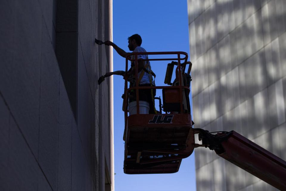 Work on the new mural began on Oct. 7 and is expected to be completed in the coming weeks.