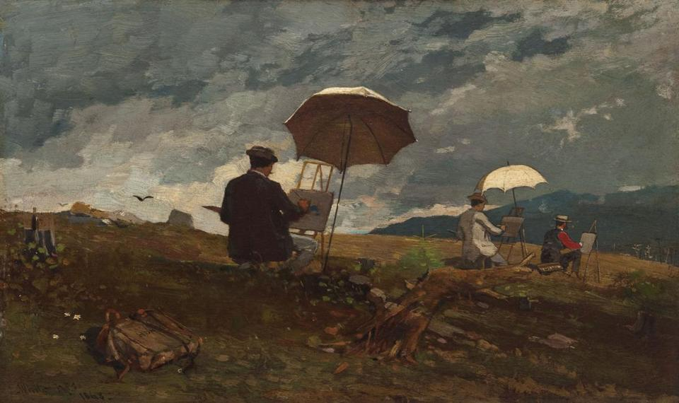 "Winslow Homer's ""Artists Sketching in the White Mountains"" at the Currier Museum of Art in Manchester, N.H."