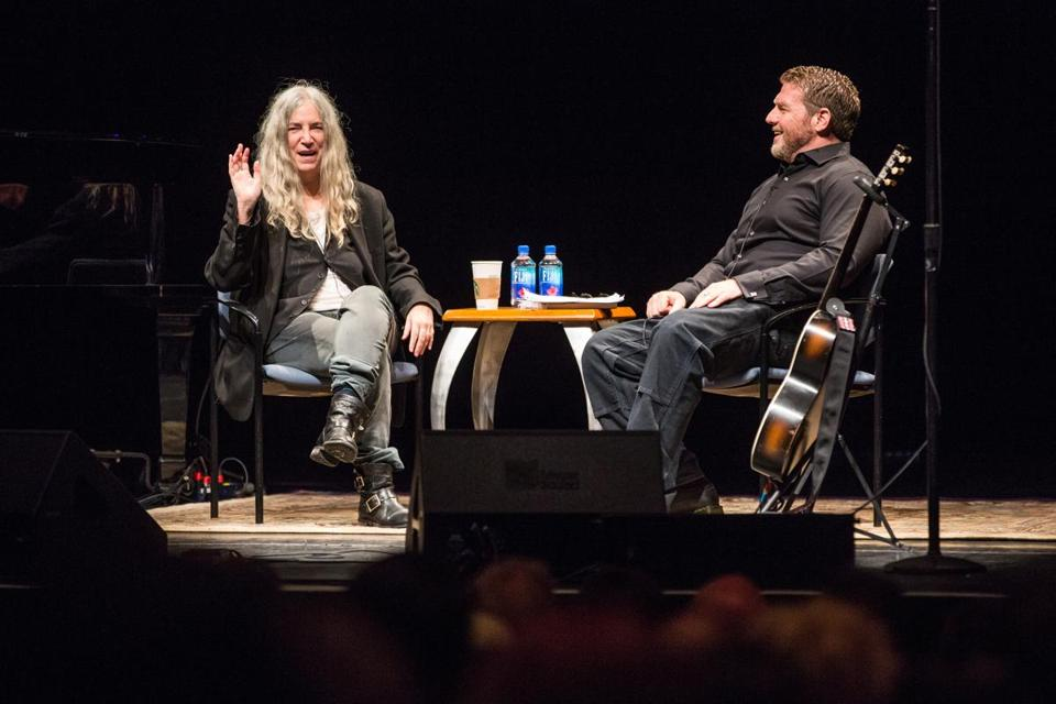 Patti Smith spoke with Michael Patrick MacDonald at the Berklee Performance Center.