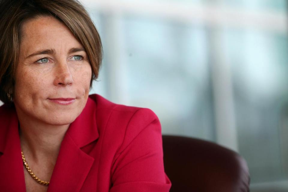 03/23/2016 -Boston, MA- Massachusetts Attorney General Maura Healey during an editorial board interview at The Boston Globe in Boston, MA on March 23, 2016. (Craig F. Walker/Globe Staff) section: Business reporter: Ambrose