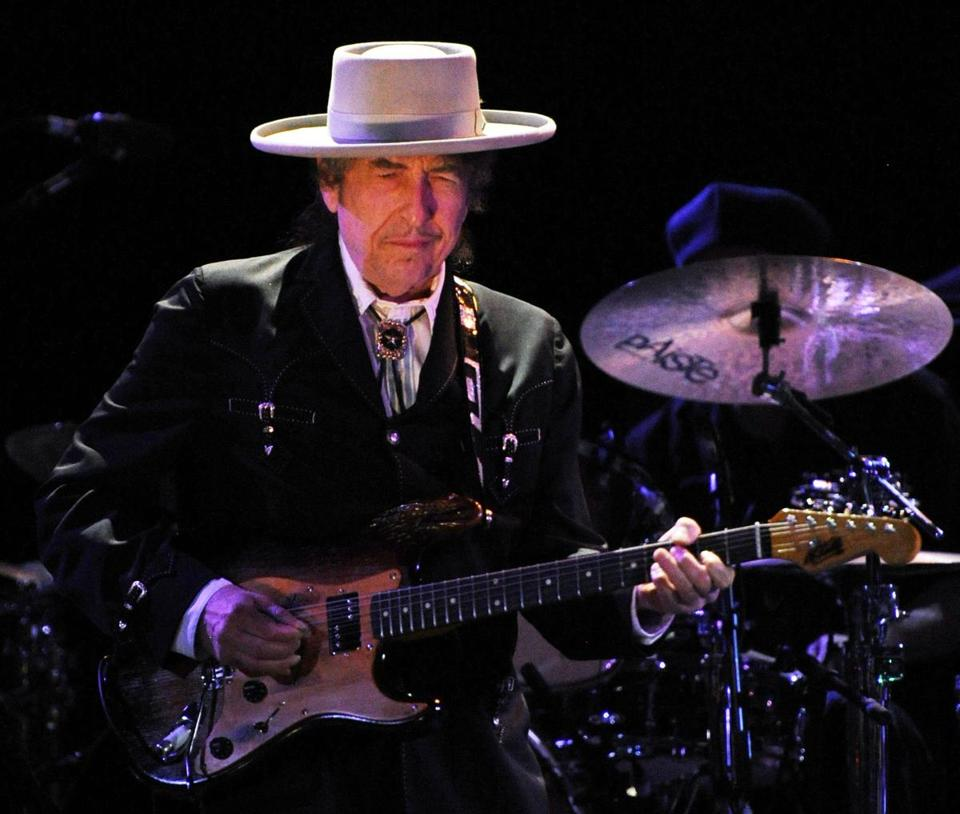 Bob Dylan performing in 2011.