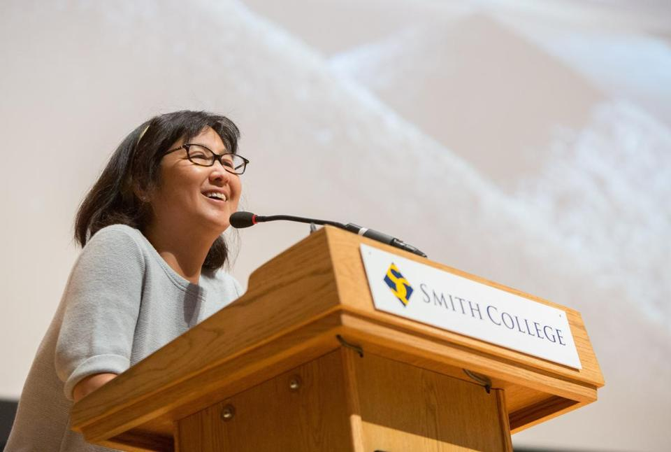 Maya Lin at Smith College in April 2015.