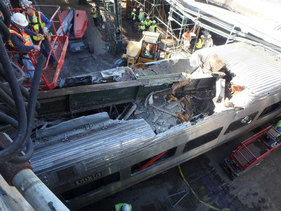 One woman died and more than 100 people were injured when a speeding New Jersey Transit train slammed into the commuter rail station in Hoboken last month.