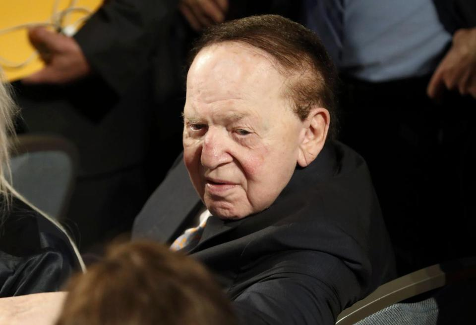 Las Vegas casino owner Sheldon Adelson attends the U.S. presidential debate between Republican U.S. presidential nominee Donald Trump and Democratic U.S. presidential nominee Hillary Clinton at Hofstra University in Hempstead, New York, U.S., September 26, 2016. REUTERS/Mike Segar
