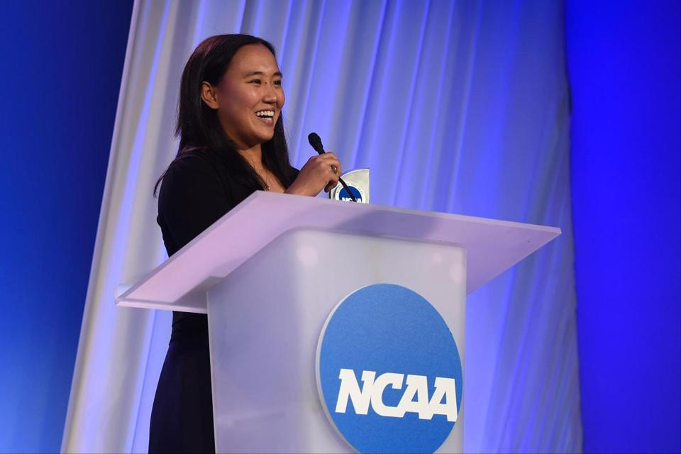 "Upon receiving the NCAA Woman of the Year honor Sunday night in Indianapolis, recent MIT grad Margaret Guo said she was in ""disbelief."""