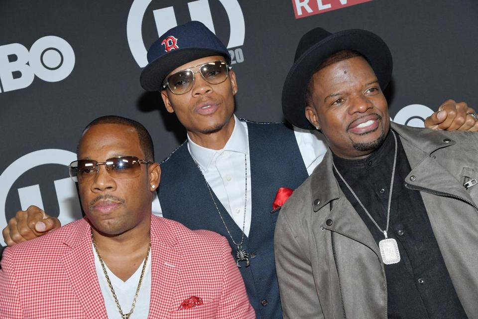 From left: Michael Bivins, Ronnie DeVoe, and Ricky Bell in New York in September.